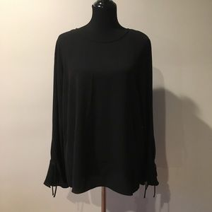 • Vince Camuto • black bell-sleeved top